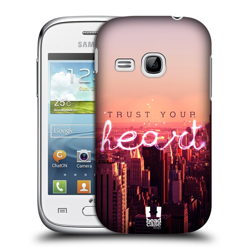 Plastové pouzdro na mobil Samsung Galaxy Young HEAD CASE TRUST YOUR HEART (Kryt či obal na mobilní telefon Samsung Galaxy Young GT-S6310)