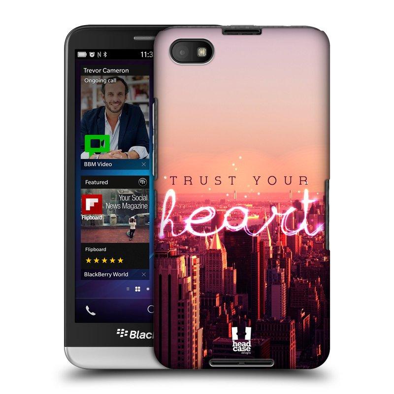 Plastové pouzdro na mobil Blackberry Z30 HEAD CASE TRUST YOUR HEART (Kryt či obal na mobilní telefon Blackberry Z30)