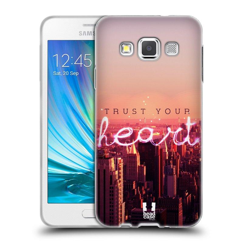 Silikonové pouzdro na mobil Samsung Galaxy A3 HEAD CASE TRUST YOUR HEART (Silikonový kryt či obal na mobilní telefon Samsung Galaxy A3 SM-A300)