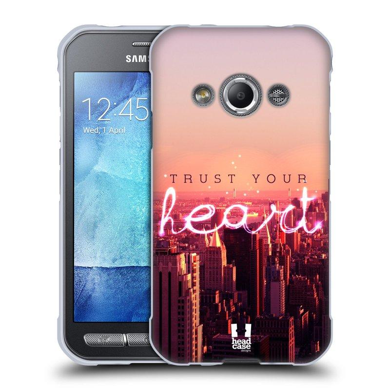Silikonové pouzdro na mobil Samsung Galaxy Xcover 3 HEAD CASE TRUST YOUR HEART (Silikonový kryt či obal na mobilní telefon Samsung Galaxy Xcover 3 SM-G388F)