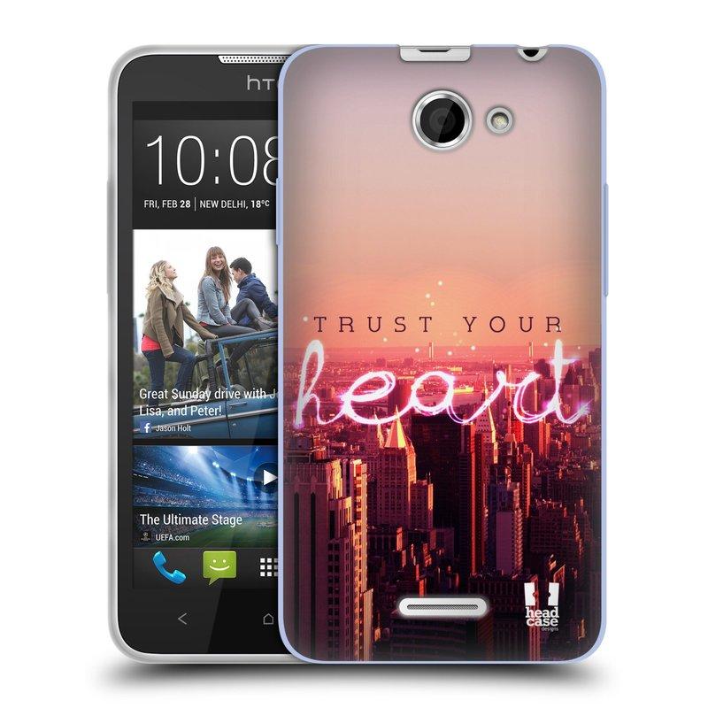 Silikonové pouzdro na mobil HTC Desire 516 HEAD CASE TRUST YOUR HEART (Silikonový kryt či obal na mobilní telefon HTC Desire 516 Dual SIM)