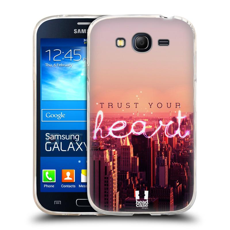 Silikonové pouzdro na mobil Samsung Galaxy Grand Neo Plus HEAD CASE TRUST YOUR HEART (Silikonový kryt či obal na mobilní telefon Samsung Galaxy Grand Neo Plus Duos GT-I9060i)