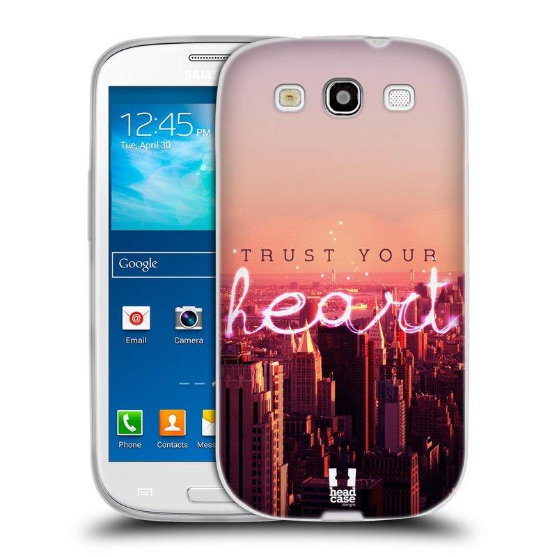 Silikonové pouzdro na mobil Samsung Galaxy S3 Neo HEAD CASE TRUST YOUR HEART (Silikonový kryt či obal na mobilní telefon Samsung Galaxy S3 Neo GT-i9301i)