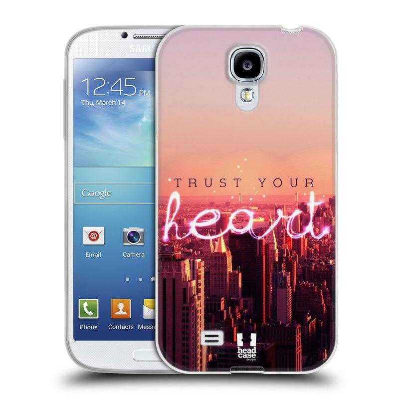Silikonové pouzdro na mobil Samsung Galaxy S4 HEAD CASE TRUST YOUR HEART (Silikonový kryt či obal na mobilní telefon Samsung Galaxy S4 GT-i9505 / i9500)