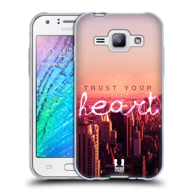 Silikonové pouzdro na mobil Samsung Galaxy J1 HEAD CASE TRUST YOUR HEART (Silikonový kryt či obal na mobilní telefon Samsung Galaxy J1 a J1 Duos)