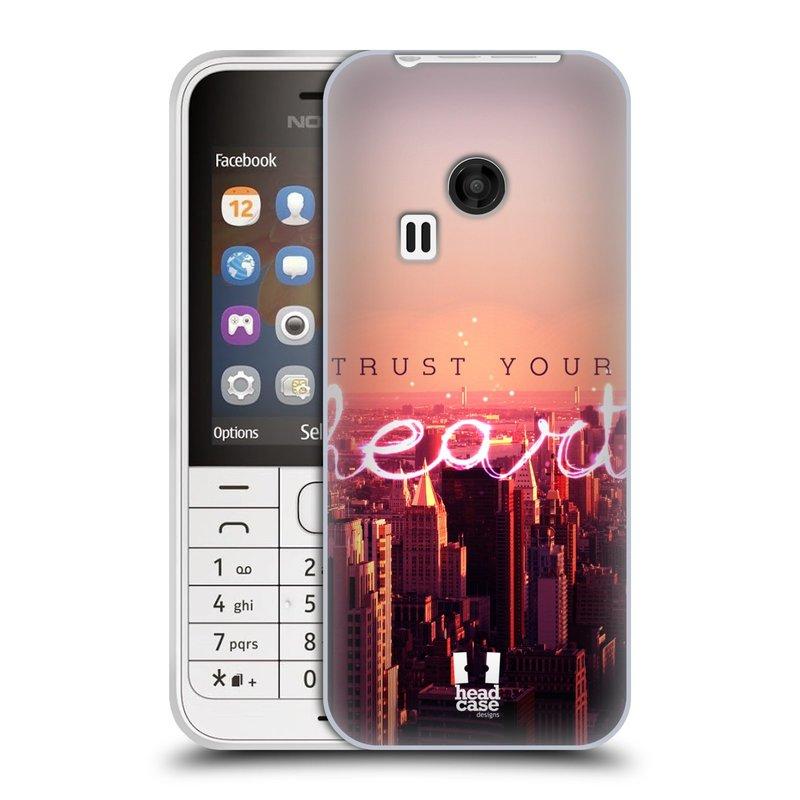 Silikonové pouzdro na mobil Nokia 220 HEAD CASE TRUST YOUR HEART (Silikonový kryt či obal na mobilní telefon Nokia 220 a 220 Dual SIM)