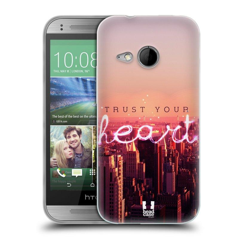 Silikonové pouzdro na mobil HTC ONE Mini 2 HEAD CASE TRUST YOUR HEART (Silikonový kryt či obal na mobilní telefon HTC ONE Mini 2)