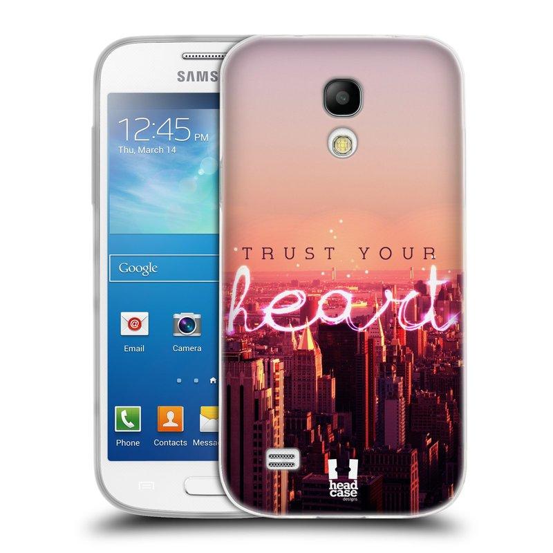 Silikonové pouzdro na mobil Samsung Galaxy S4 Mini HEAD CASE TRUST YOUR HEART (Silikonový kryt či obal na mobilní telefon Samsung Galaxy S4 Mini GT-i9195 / i9190 (nepasuje na verzi Black Edition))
