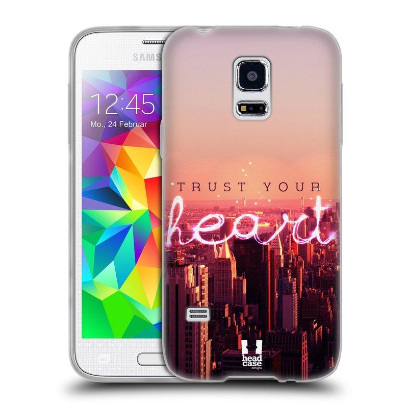 Silikonové pouzdro na mobil Samsung Galaxy S5 Mini HEAD CASE TRUST YOUR HEART (Silikonový kryt či obal na mobilní telefon Samsung Galaxy S5 Mini SM-G800F)