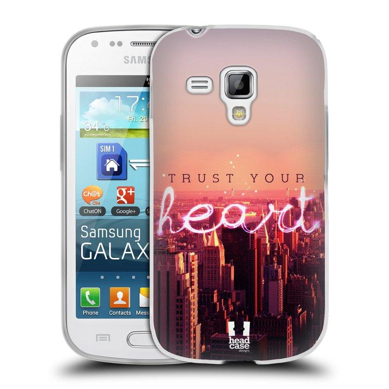 Silikonové pouzdro na mobil Samsung Galaxy S Duos HEAD CASE TRUST YOUR HEART (Silikonový kryt či obal na mobilní telefon Samsung Galaxy S Duos GT-S7562)