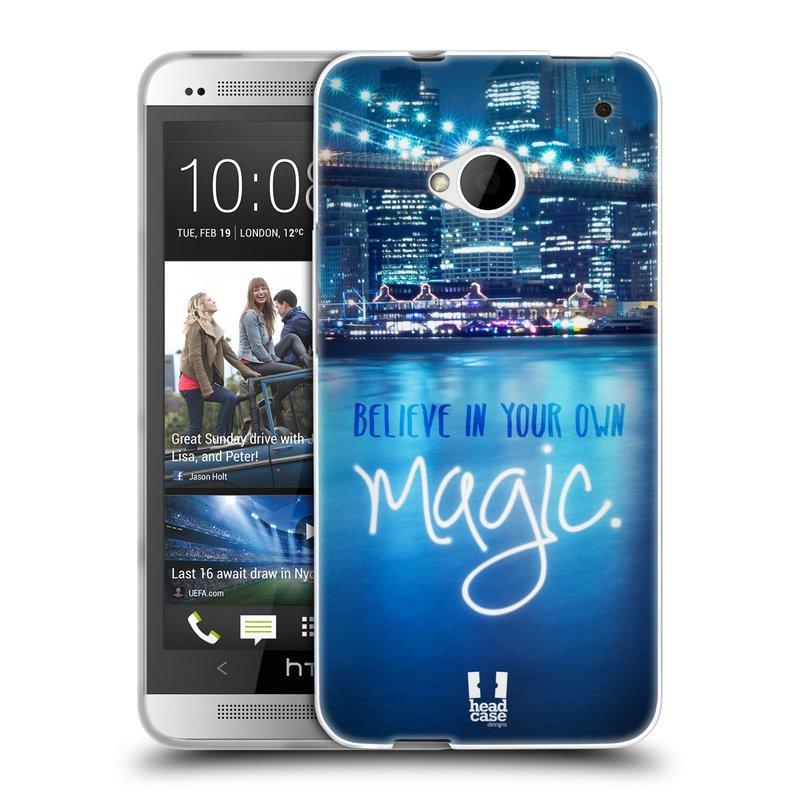 Silikonové pouzdro na mobil HTC ONE M7 HEAD CASE MAGICAL (Silikonový kryt či obal na mobilní telefon HTC ONE M7)