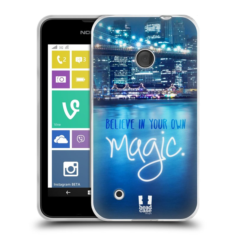 Silikonové pouzdro na mobil Nokia Lumia 530 HEAD CASE MAGICAL (Silikonový kryt či obal na mobilní telefon Nokia Lumia 530)