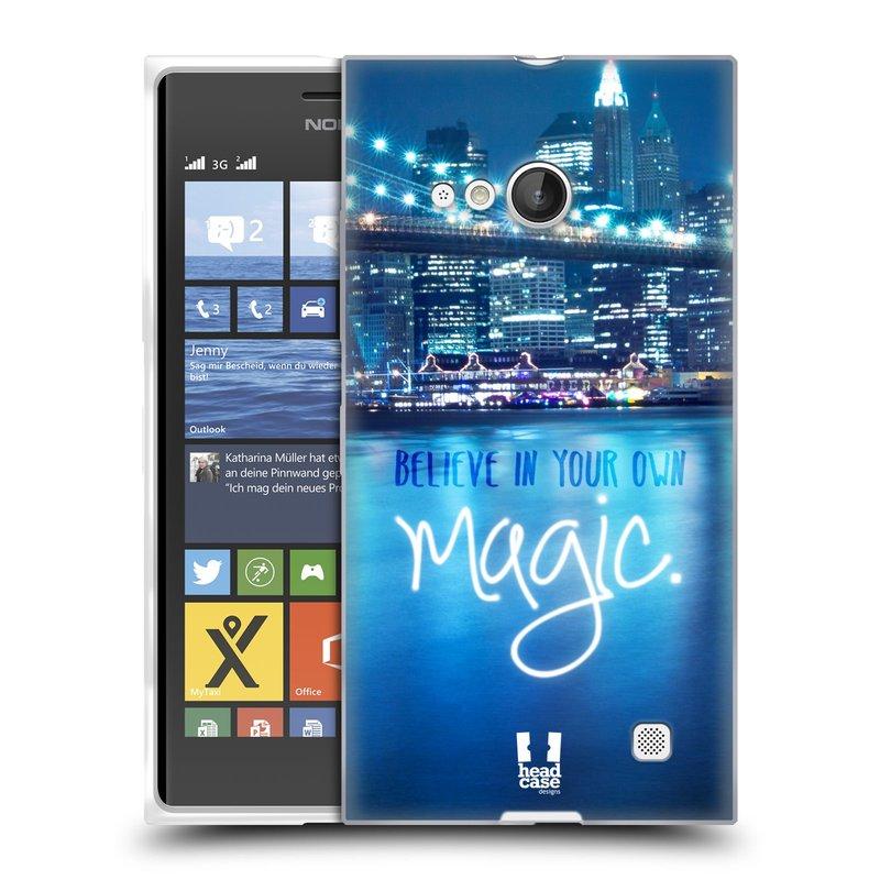 Silikonové pouzdro na mobil Nokia Lumia 735 HEAD CASE MAGICAL (Silikonový kryt či obal na mobilní telefon Nokia Lumia 735)
