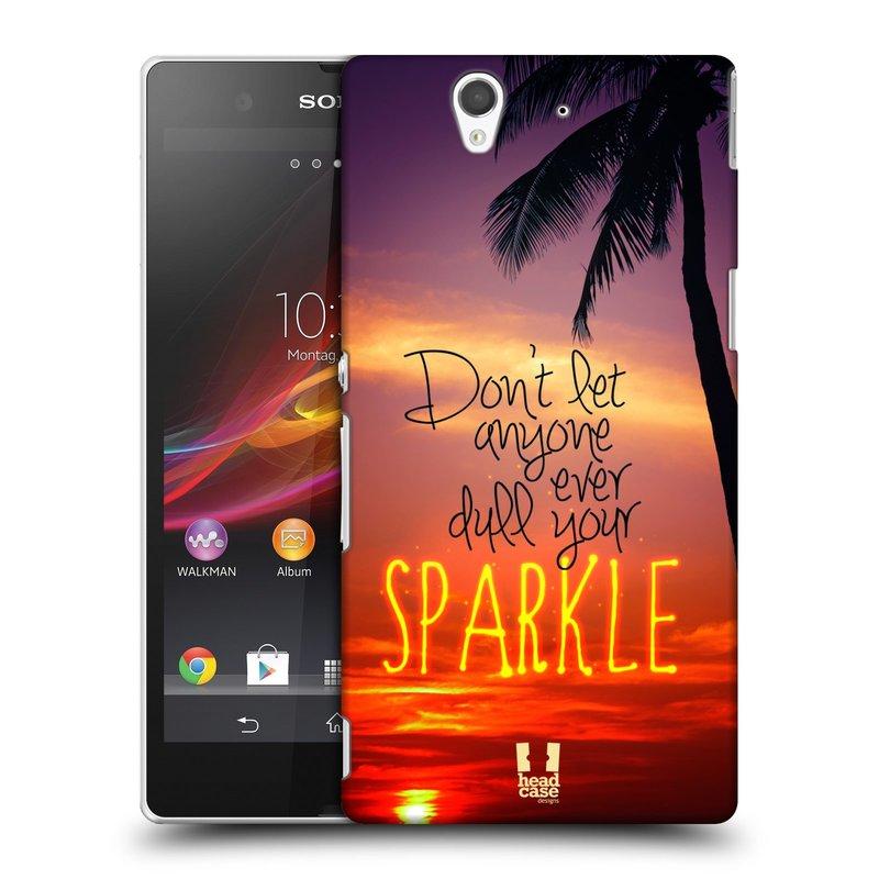 Plastové pouzdro na mobil Sony Xperia Z C6603 HEAD CASE SPARKLE (Kryt či obal na mobilní telefon Sony Xperia Z )