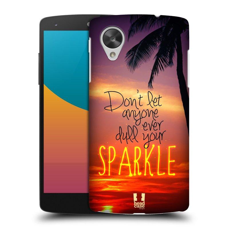 Plastové pouzdro na mobil LG Nexus 5 HEAD CASE SPARKLE (Kryt či obal na mobilní telefon LG Google Nexus 5 D821)