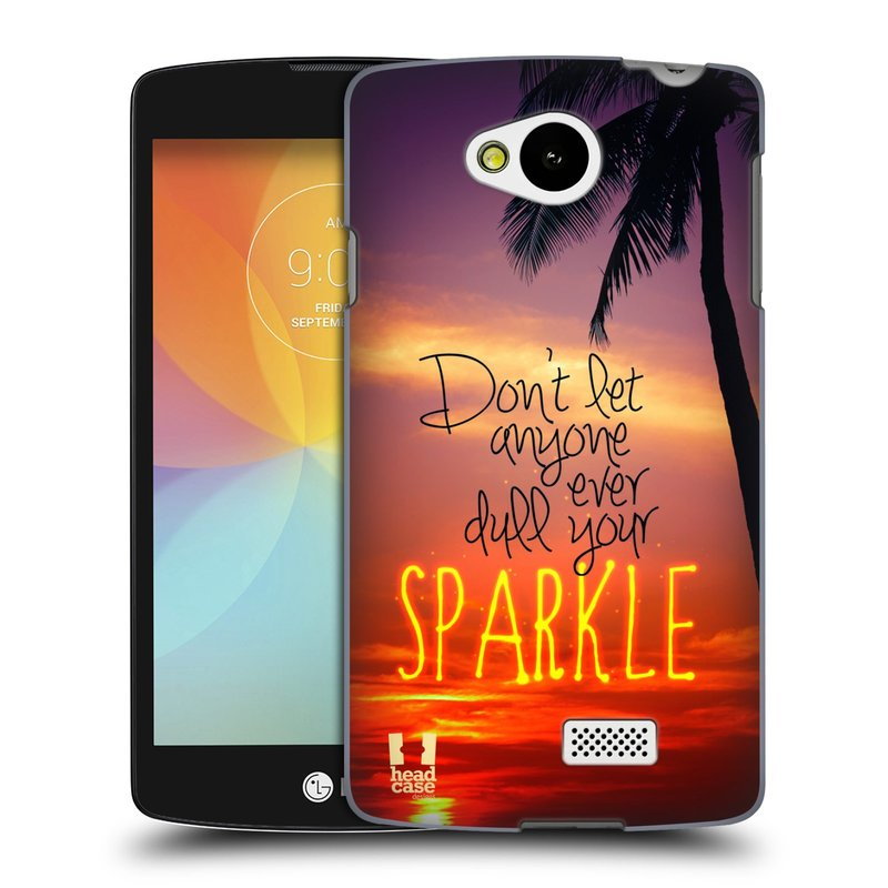 Plastové pouzdro na mobil LG F60 HEAD CASE SPARKLE (Kryt či obal na mobilní telefon LG F60 D390n)