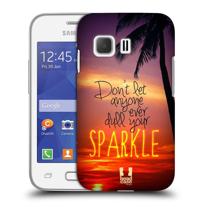 Plastové pouzdro na mobil Samsung Galaxy Young 2 HEAD CASE SPARKLE (Kryt či obal na mobilní telefon Samsung Galaxy Young 2 SM-G130)