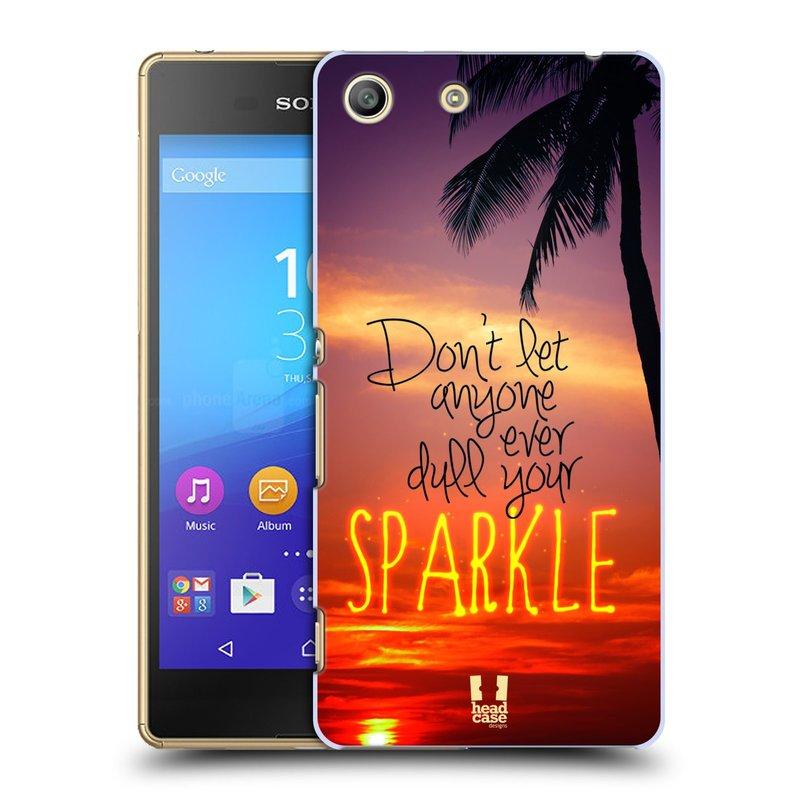 Plastové pouzdro na mobil Sony Xperia M5 HEAD CASE SPARKLE (Kryt či obal na mobilní telefon Sony Xperia M5 Aqua)