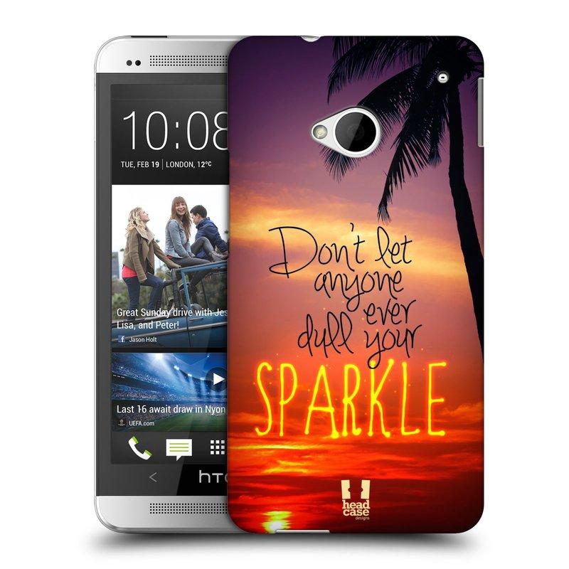 Plastové pouzdro na mobil HTC ONE M7 HEAD CASE SPARKLE (Kryt či obal na mobilní telefon HTC ONE M7)