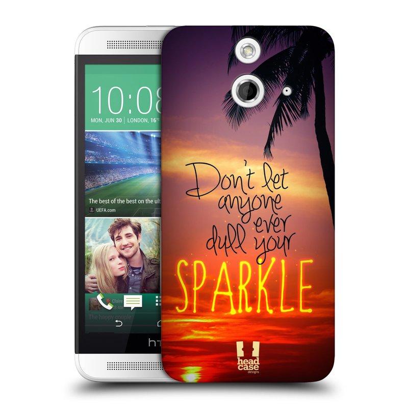 Plastové pouzdro na mobil HTC ONE E8 HEAD CASE SPARKLE (Kryt či obal na mobilní telefon HTC ONE E8)