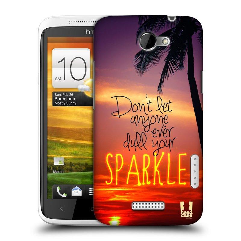 Plastové pouzdro na mobil HTC ONE X HEAD CASE SPARKLE (Kryt či obal na mobilní telefon HTC ONE X)