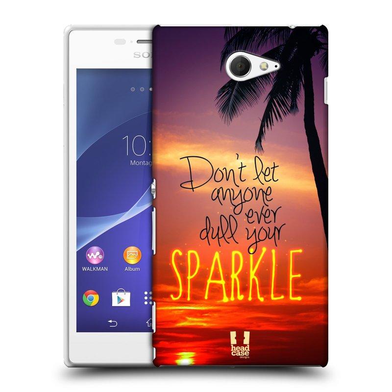 Plastové pouzdro na mobil Sony Xperia M2 D2303 HEAD CASE SPARKLE (Kryt či obal na mobilní telefon Sony Xperia M2 )