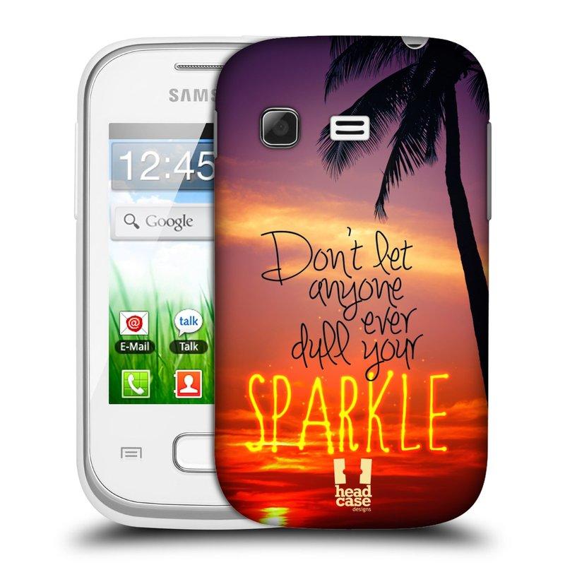 Plastové pouzdro na mobil Samsung Galaxy Pocket HEAD CASE SPARKLE (Kryt či obal na mobilní telefon Samsung Galaxy Pocket GT-S5300)
