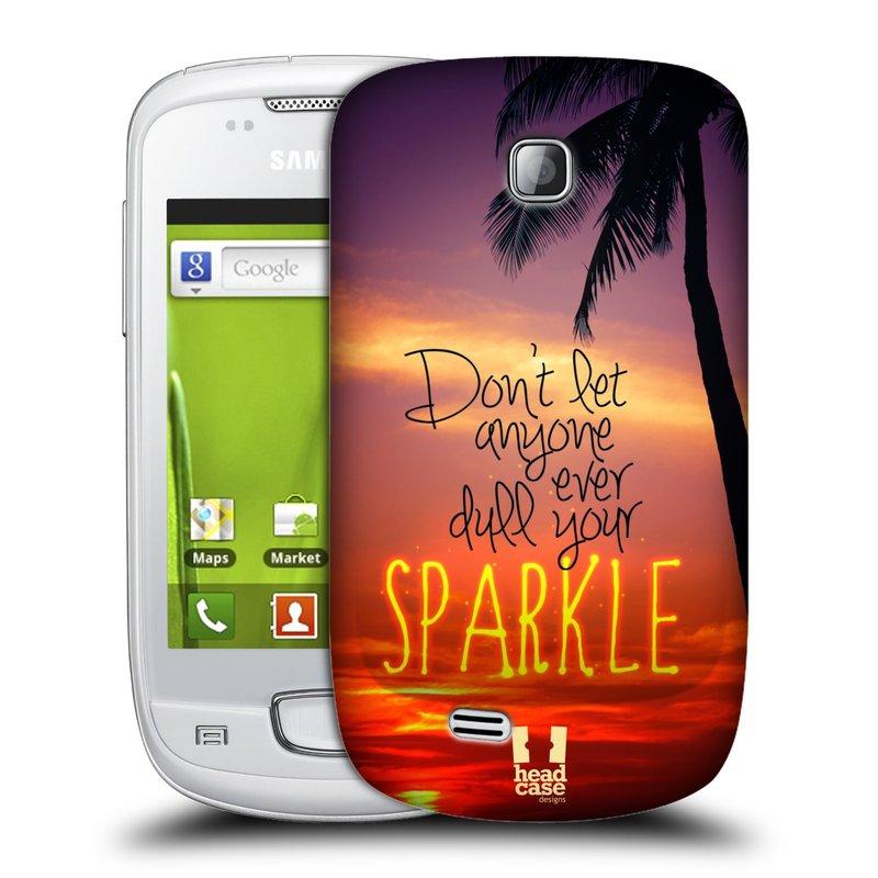 Plastové pouzdro na mobil Samsung Galaxy Mini HEAD CASE SPARKLE (Kryt či obal na mobilní telefon Samsung Galaxy Mini GT-S5570 / GT-S5570i)