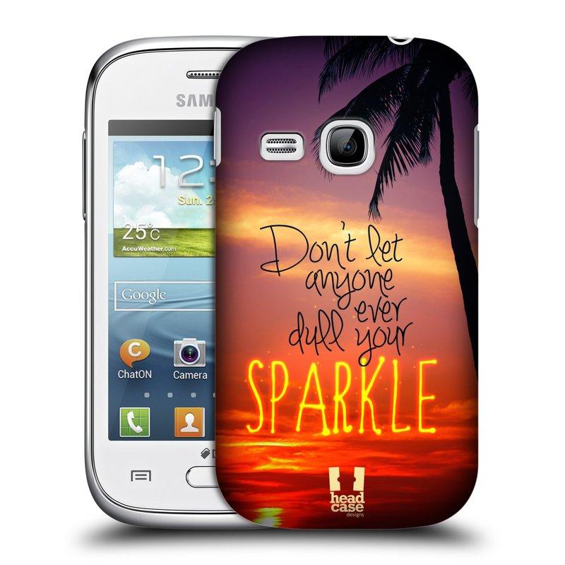 Plastové pouzdro na mobil Samsung Galaxy Young HEAD CASE SPARKLE (Kryt či obal na mobilní telefon Samsung Galaxy Young GT-S6310)