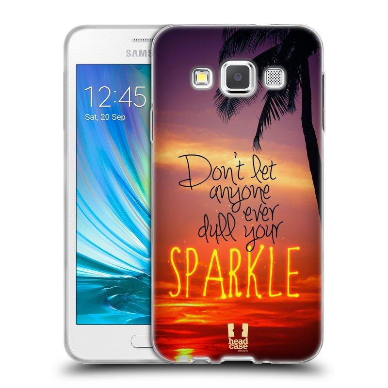Silikonové pouzdro na mobil Samsung Galaxy A3 HEAD CASE SPARKLE (Silikonový kryt či obal na mobilní telefon Samsung Galaxy A3 SM-A300)