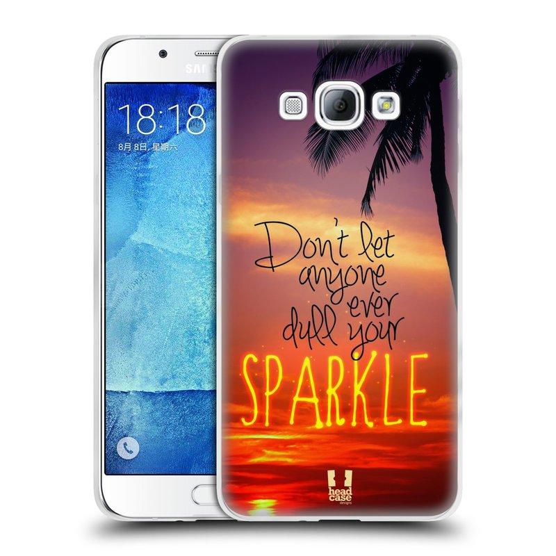 Silikonové pouzdro na mobil Samsung Galaxy A8 HEAD CASE SPARKLE (Silikonový kryt či obal na mobilní telefon Samsung Galaxy A8 SM-A800)