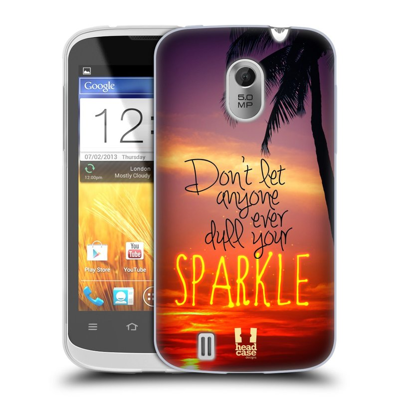 Silikonové pouzdro na mobil ZTE Blade III HEAD CASE SPARKLE (Silikonový kryt či obal na mobilní telefon ZTE Blade 3)