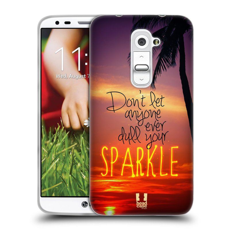 Silikonové pouzdro na mobil LG G2 HEAD CASE SPARKLE (Silikonový kryt či obal na mobilní telefon LG G2 D802)