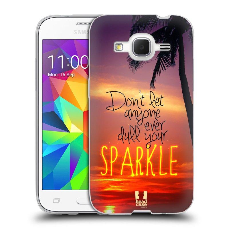 Silikonové pouzdro na mobil Samsung Galaxy Core Prime LTE HEAD CASE SPARKLE (Silikonový kryt či obal na mobilní telefon Samsung Galaxy Core Prime LTE SM-G360)