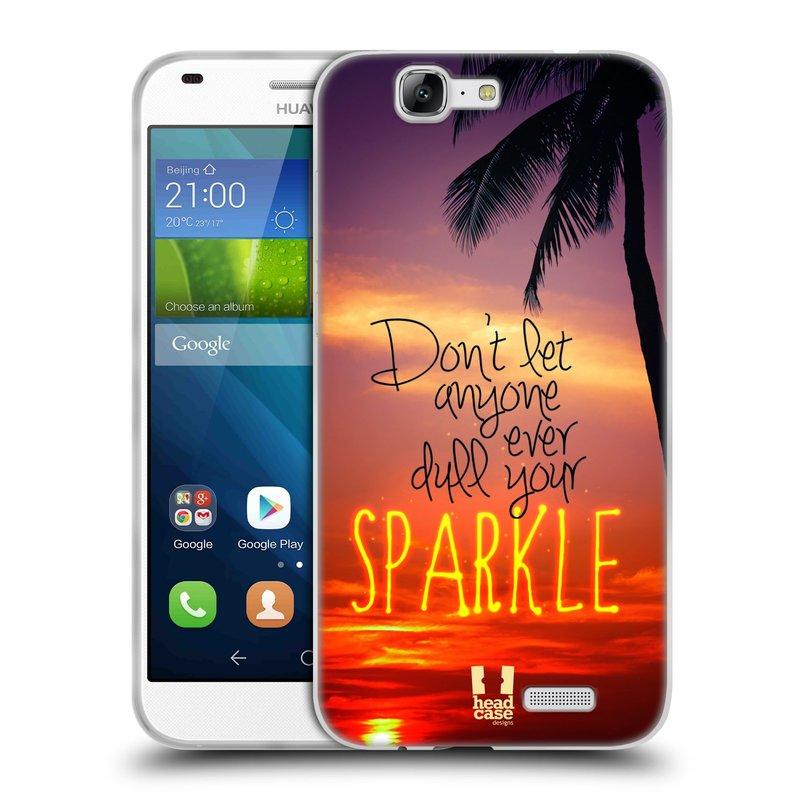 Silikonové pouzdro na mobil Huawei Ascend G7 HEAD CASE SPARKLE (Silikonový kryt či obal na mobilní telefon Huawei Ascend G7)