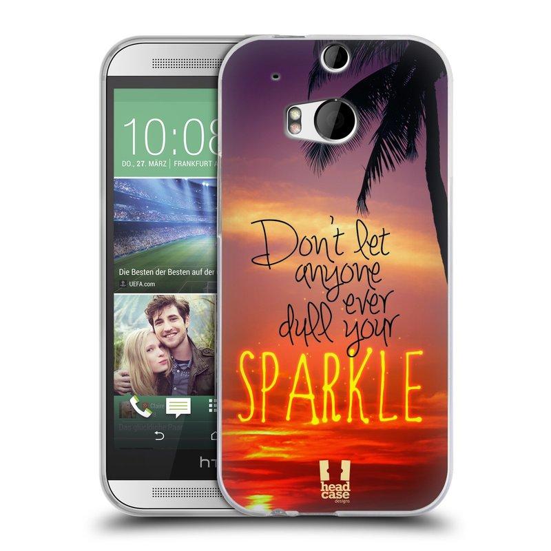 Silikonové pouzdro na mobil HTC ONE M8 HEAD CASE SPARKLE (Silikonový kryt či obal na mobilní telefon HTC ONE M8)