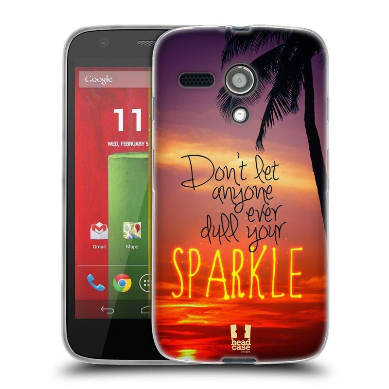Silikonové pouzdro na mobil Motorola Moto G HEAD CASE SPARKLE (Silikonový kryt či obal na mobilní telefon Motorola Moto G)