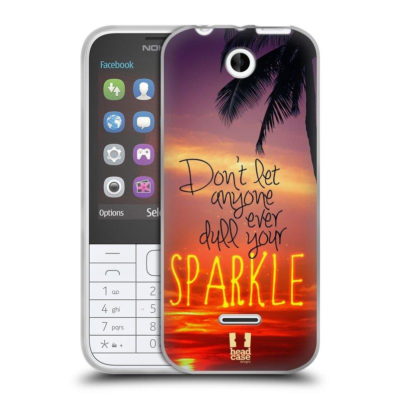 Silikonové pouzdro na mobil Nokia 225 HEAD CASE SPARKLE (Silikonový kryt či obal na mobilní telefon Nokia 225)