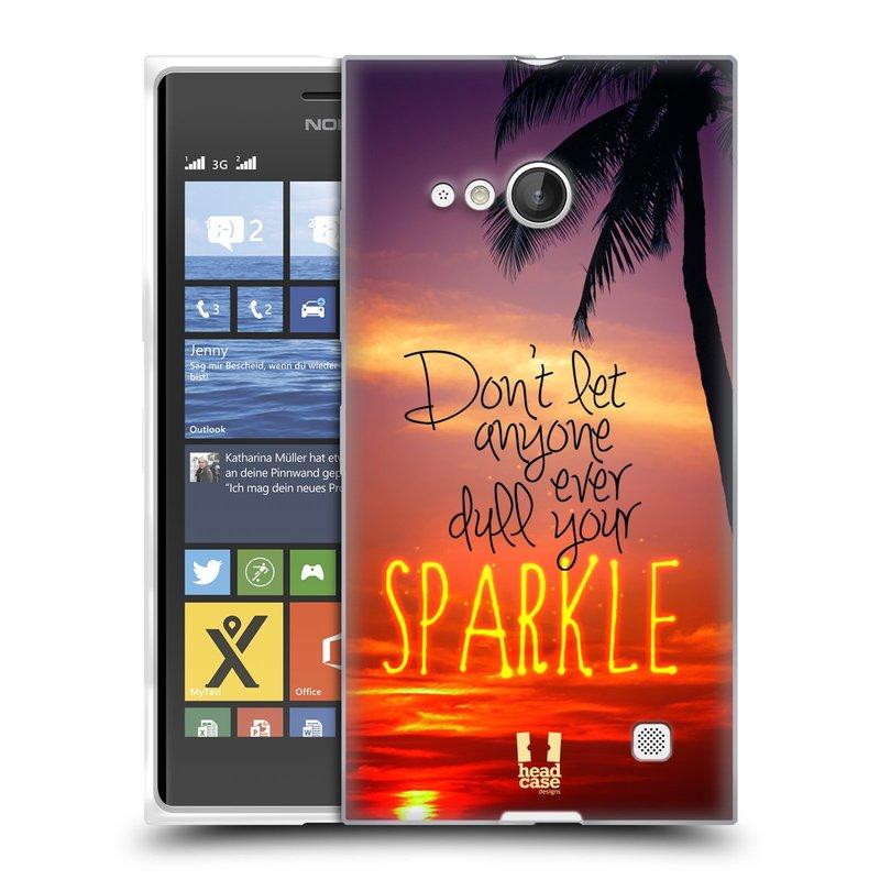 Silikonové pouzdro na mobil Nokia Lumia 735 HEAD CASE SPARKLE (Silikonový kryt či obal na mobilní telefon Nokia Lumia 735)