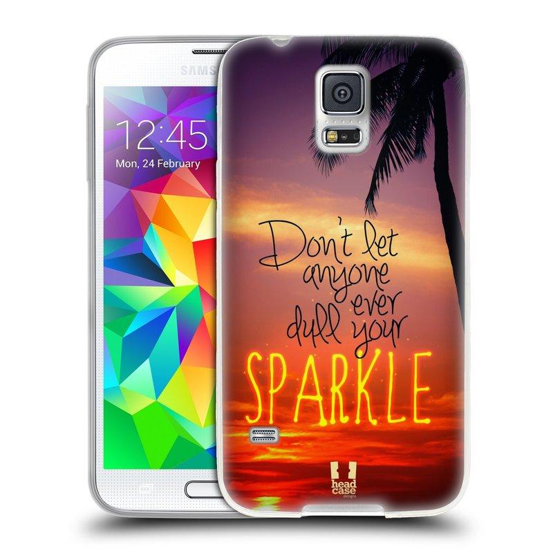 Silikonové pouzdro na mobil Samsung Galaxy S5 HEAD CASE SPARKLE (Silikonový kryt či obal na mobilní telefon Samsung Galaxy S5 SM-G900F)