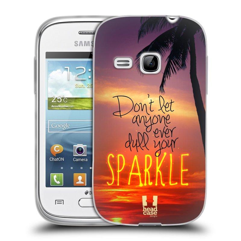 Silikonové pouzdro na mobil Samsung Galaxy Young HEAD CASE SPARKLE (Silikonový kryt či obal na mobilní telefon Samsung Galaxy Young GT-S6310)