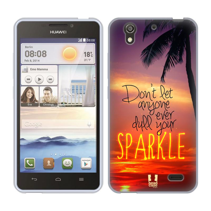 Silikonové pouzdro na mobil Huawei Ascend Y530 HEAD CASE SPARKLE (Silikonový kryt či obal na mobilní telefon Huawei Ascend Y530)