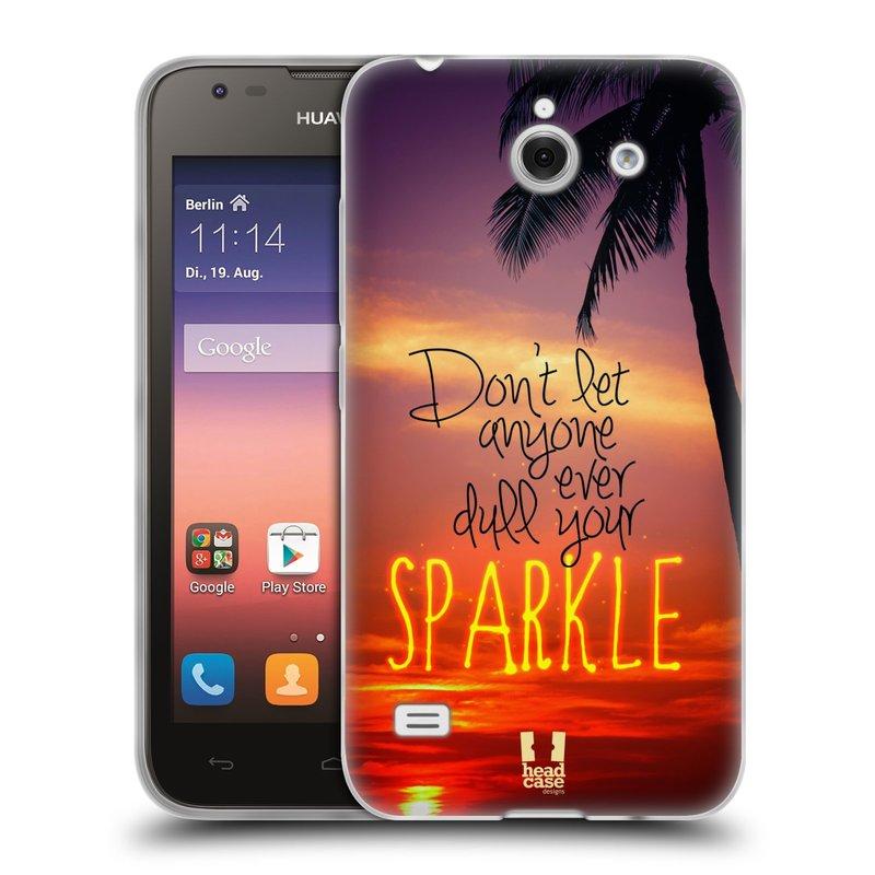 Silikonové pouzdro na mobil Huawei Ascend Y550 HEAD CASE SPARKLE (Silikonový kryt či obal na mobilní telefon Huawei Ascend Y550)