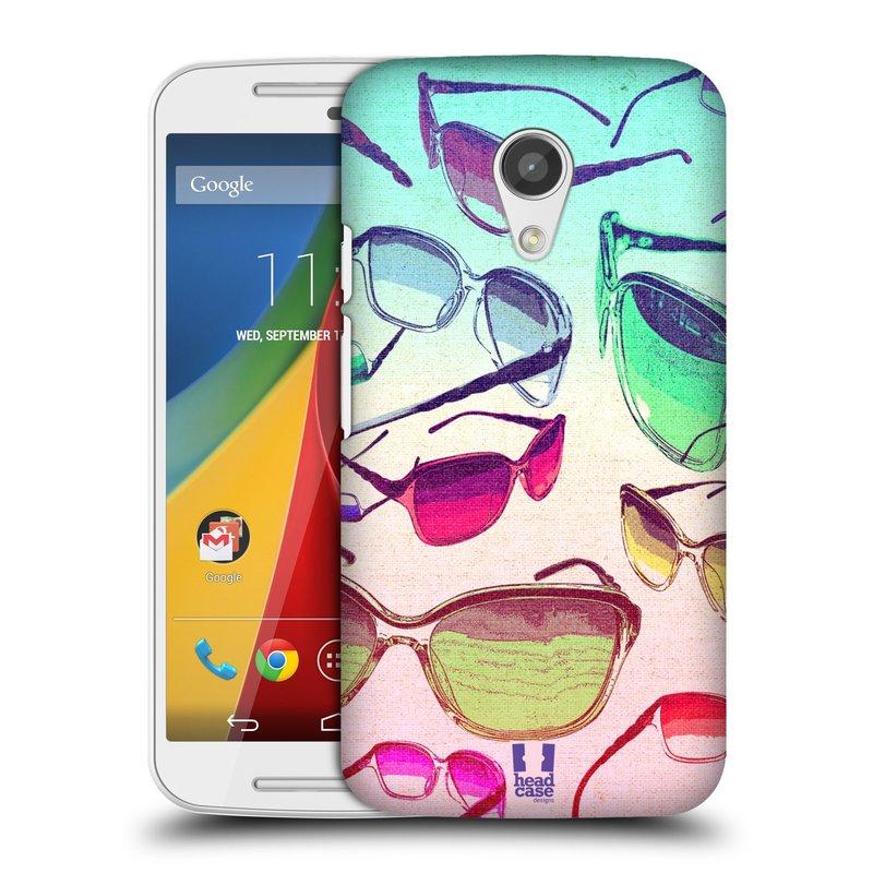 Plastové pouzdro na mobil Motorola Moto G 2ND GENERATION HEAD CASE SLUNEČNÍ BRÝLE (Kryt či obal na mobilní telefon Motorola Moto G 2. Generace)
