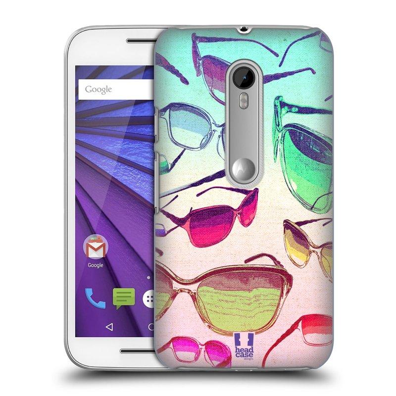 Plastové pouzdro na mobil Motorola Moto G 3RD GENERATION HEAD CASE SLUNEČNÍ BRÝLE (Kryt či obal na mobilní telefon Motorola Moto G 3. Generace)