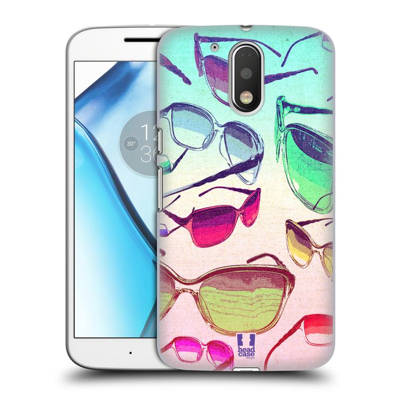 Plastové pouzdro na mobil Lenovo Moto G4 HEAD CASE SLUNEČNÍ BRÝLE (Plastový kryt či obal na mobilní telefon Lenovo Moto G4 (Single a Dual SIM))