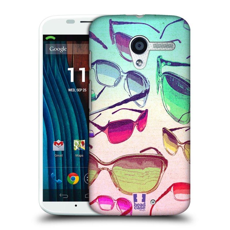 Plastové pouzdro na mobil Motorola Moto X HEAD CASE SLUNEČNÍ BRÝLE (Kryt či obal na mobilní telefon Motorola Moto X)