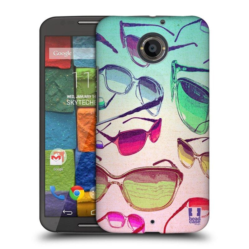 Plastové pouzdro na mobil Motorola Moto X 2ND GENERATION HEAD CASE SLUNEČNÍ BRÝLE (Kryt či obal na mobilní telefon Motorola Moto X 2. Generace)