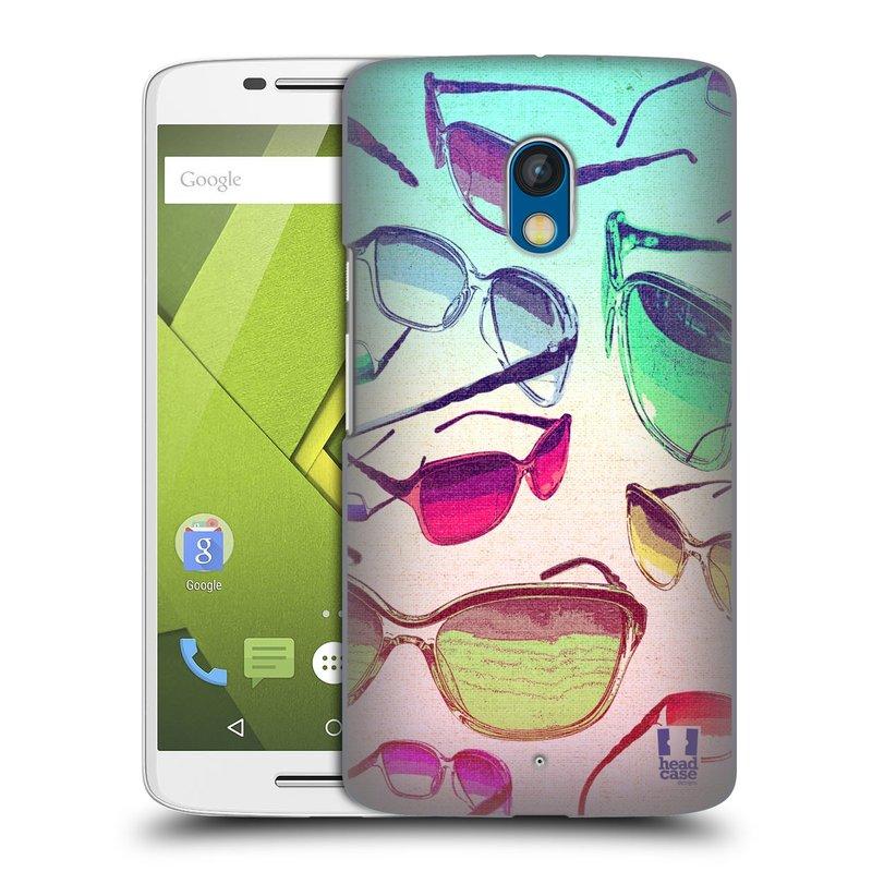 Plastové pouzdro na mobil Motorola Moto X Play HEAD CASE SLUNEČNÍ BRÝLE (Kryt či obal na mobilní telefon Motorola Moto X Play XT1562)