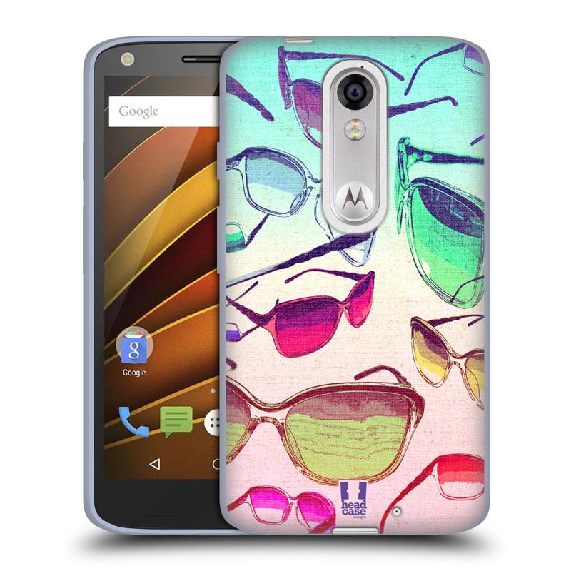 Silikonové pouzdro na mobil Lenovo Moto X Force HEAD CASE SLUNEČNÍ BRÝLE (Silikonový kryt či obal na mobilní telefon Lenovo Moto X Force (Motorola))